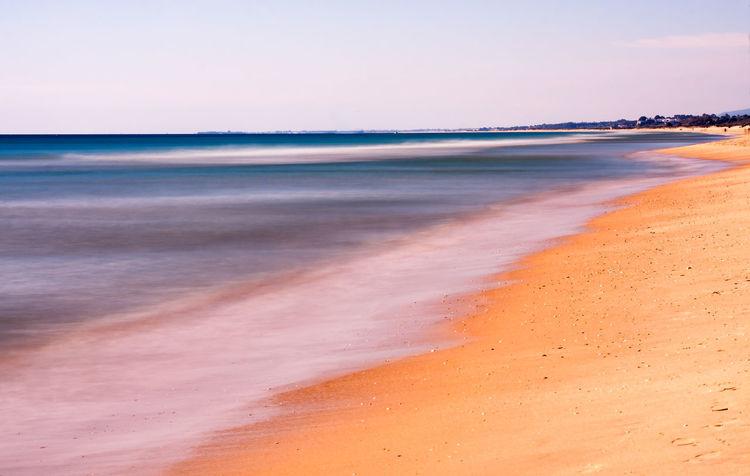 Algarve Beach - Portugal Algarve Portugal Beach Sea Atlantic Ocean Sand Minimalism Long Exposure 10 Stop Filter Motion Blur Water Blur Outdoors Seascape Landscape Nature Waves Coastline