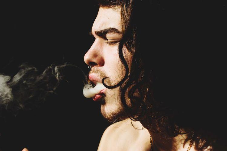 lion Smoking