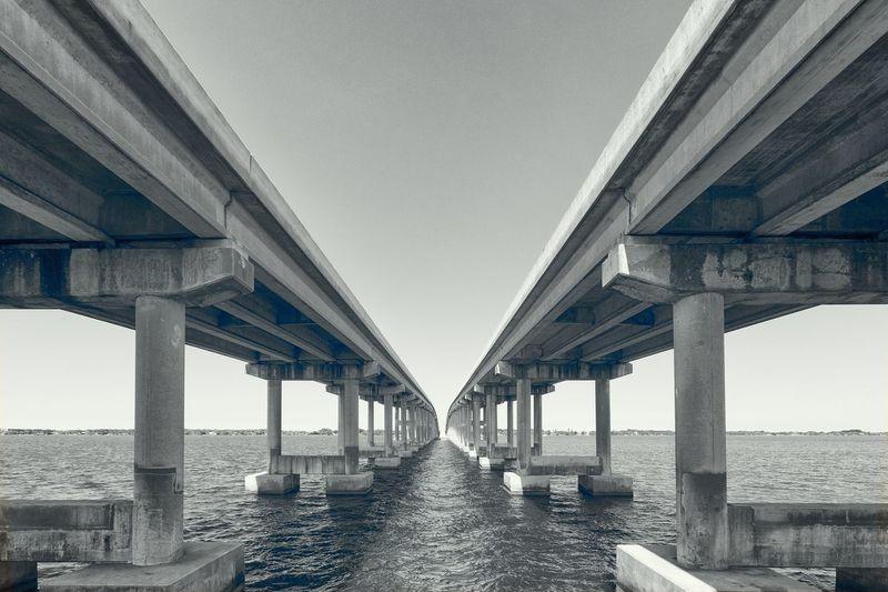 Pineda Causeway Bridge Over River Against Clear Sky