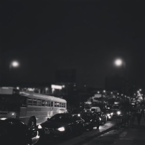 Car Night Illuminated Transportation Land Vehicle Street City Street Light City Street Road Sky Blackandwhite Black & White Costa Rica Lights City Outdoors Street Photo