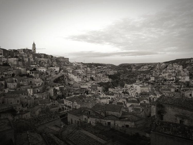 ancient place Matera Ancient Architecture Streetphotography Architecturelovers Light And Shadow Blackandwhite Art Sky Outdoors Architecture Day No People Cityscape City