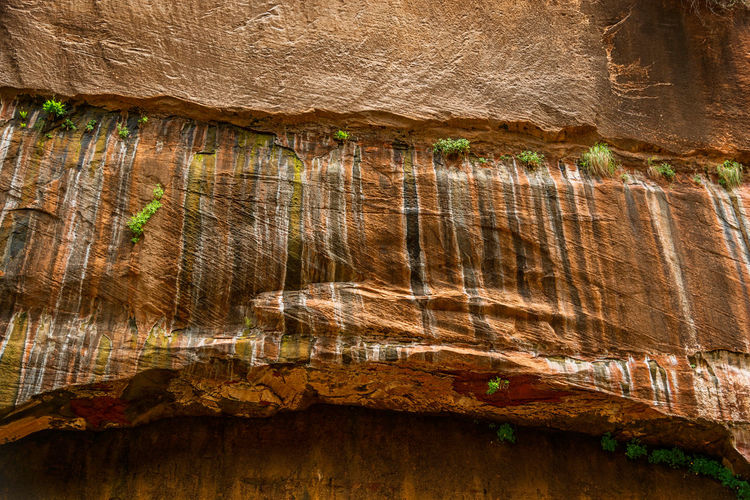 Low angle view of rock formation