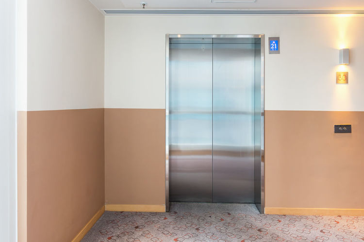 Closed Elevator In Building