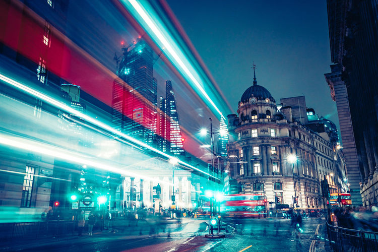 City light painting 2 Architecture Full Frame Blur Blurred Motion Backgrounds Illuminated Built Structure City Building Exterior Motion Night City Life Building Long Exposure Transportation Travel Destinations Mode Of Transportation Traffic Unrecognizable People Accidental People Travel LONDON❤ EyeEm Best Shots EyeEm Selects EyeEm Gallery
