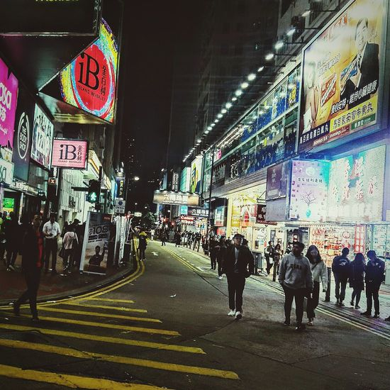 Large Group Of People Illuminated City Men Women Night Architecture Real People Crowd Cityscape Outdoor Photography Building Exterior Streetphotography Causeway Bay Evening Lifestyles Road Marking Causeway Bay