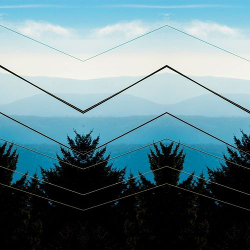 Zigged when you should have Zagged Mountain Range Mountain View Mountain Mirror Architecture Abstract Abstract Photography Silhouette Tree Sky No People Day Low Angle View Outdoors Nature
