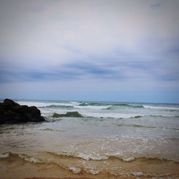 The beautiful French sea Surf Sea Horizon Over Water Beauty In Nature Sky Scenics Nature Beach Water Wave Outdoors Tranquility Cloud - Sky Day Tranquil Scene No People First Eyeem Photo