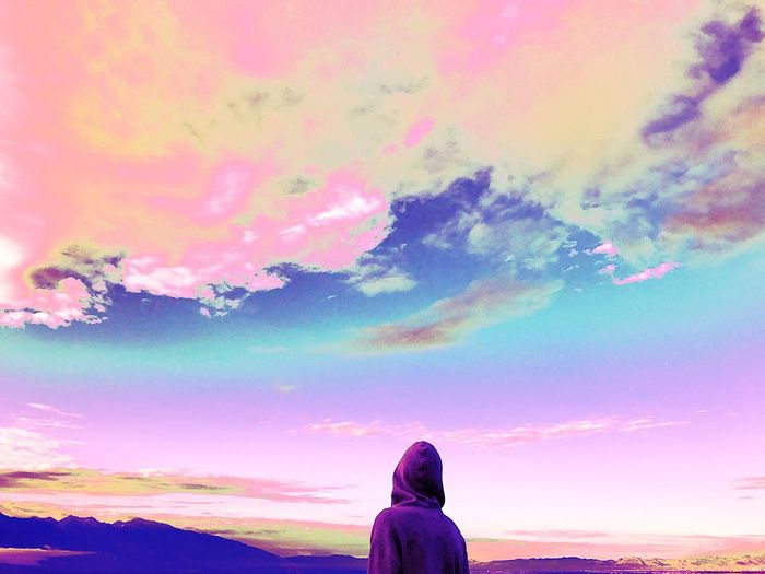 Neon Life Sky My Brother  Teenager Beauty In Nature Skies Skies And Clouds Neon Neon Color Neon Colored Daydreaming Lookingup