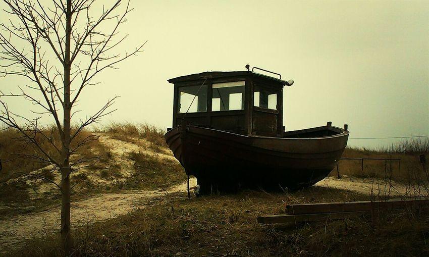 Usedom Ahlbeck Duenen Fischerboote