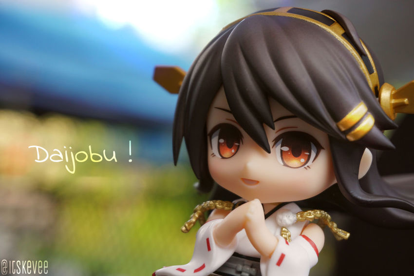 Art Close-up Cultures Day Figurine  Focus On Foreground No People Selective Focus Still Life ねんどろいど Anime Toyphotography Kancolle Kantaicollection Haruna Outdoor Photography Creativity Green Color Outdoors