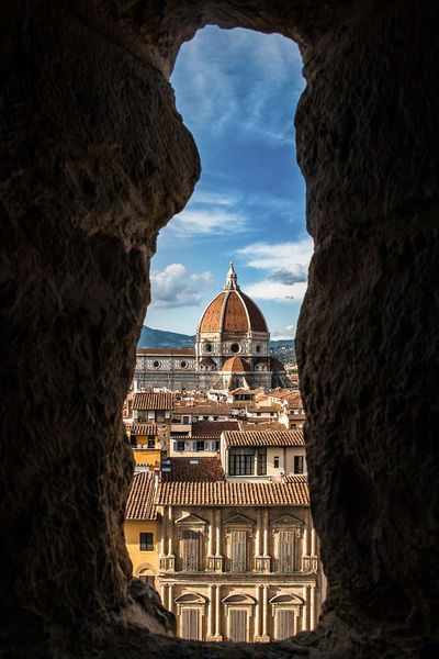 #Florence #hole #hole In The Wall #italy Architecture Building Exterior Built Structure City Dome History No People Place Of Worship Travel Destinations