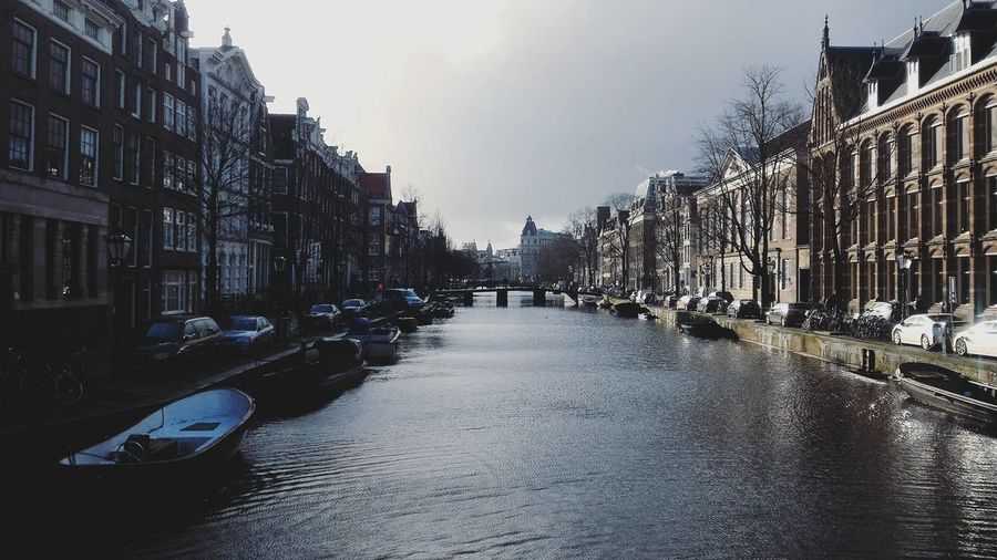 Amsterdam Architecture Buildings Canal City Holland Netherlands No People Outdoors Travel Destinations
