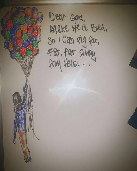 I doodle. This is my whiteboard. Doodle Whiteboardart Balloons DearGod Bird Sharpie Art