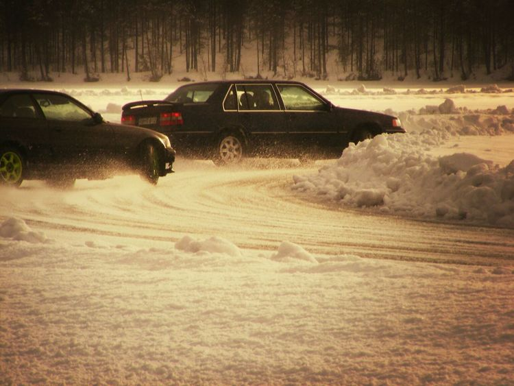 from todays photoshoot Cars Drifting Ice Frozen Lake