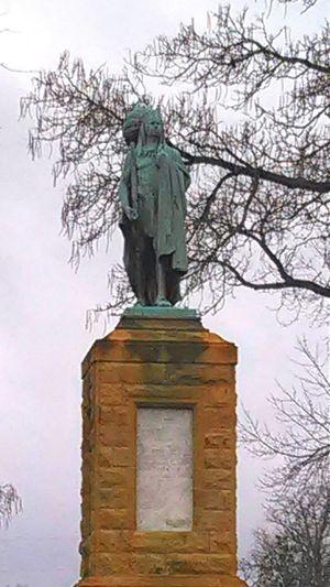 Big Chief Keokuk Chief Statue