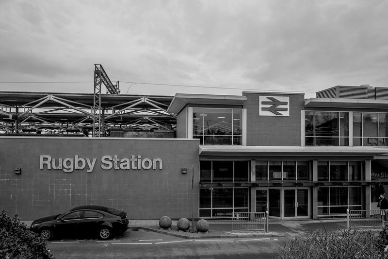 The new Rugby Railway Station booking office, Railway Terrace, Rugby, Warwickshire Rugby Warwickshire Rugbytown Railway Station Train Station Black And White FUJIFILM X-T10 Monochrome Architecture