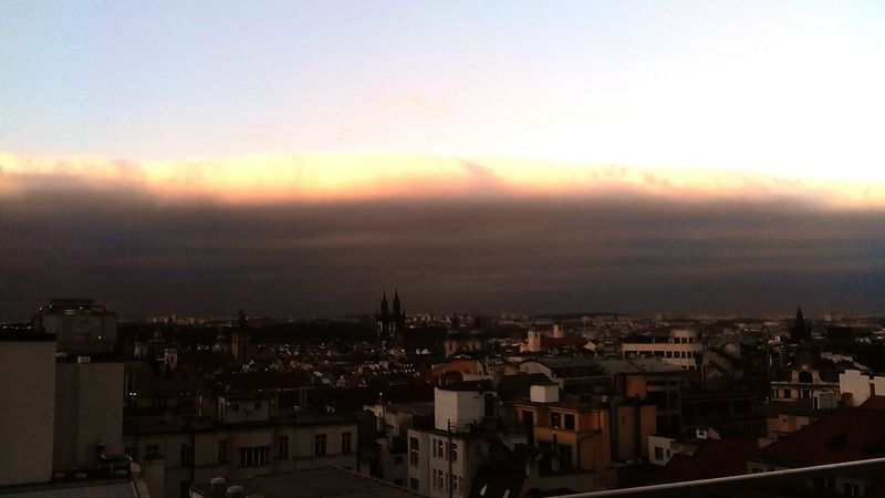 Prague Clouds Sun Weather