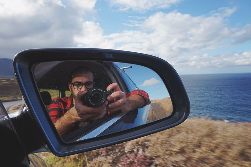Quiet ride in Madeira Portugal Q Audi That's Me Hello World Cheese! Hi! Taking Photos Enjoying Life Sony A5000 EyeEmBestPics EyeEm Best Shots Travel Photography Showcase March Mountain Rocks Portrait Tourist Being A Tourist Mirror Car Clouds And Sky Clouds Blue Sky