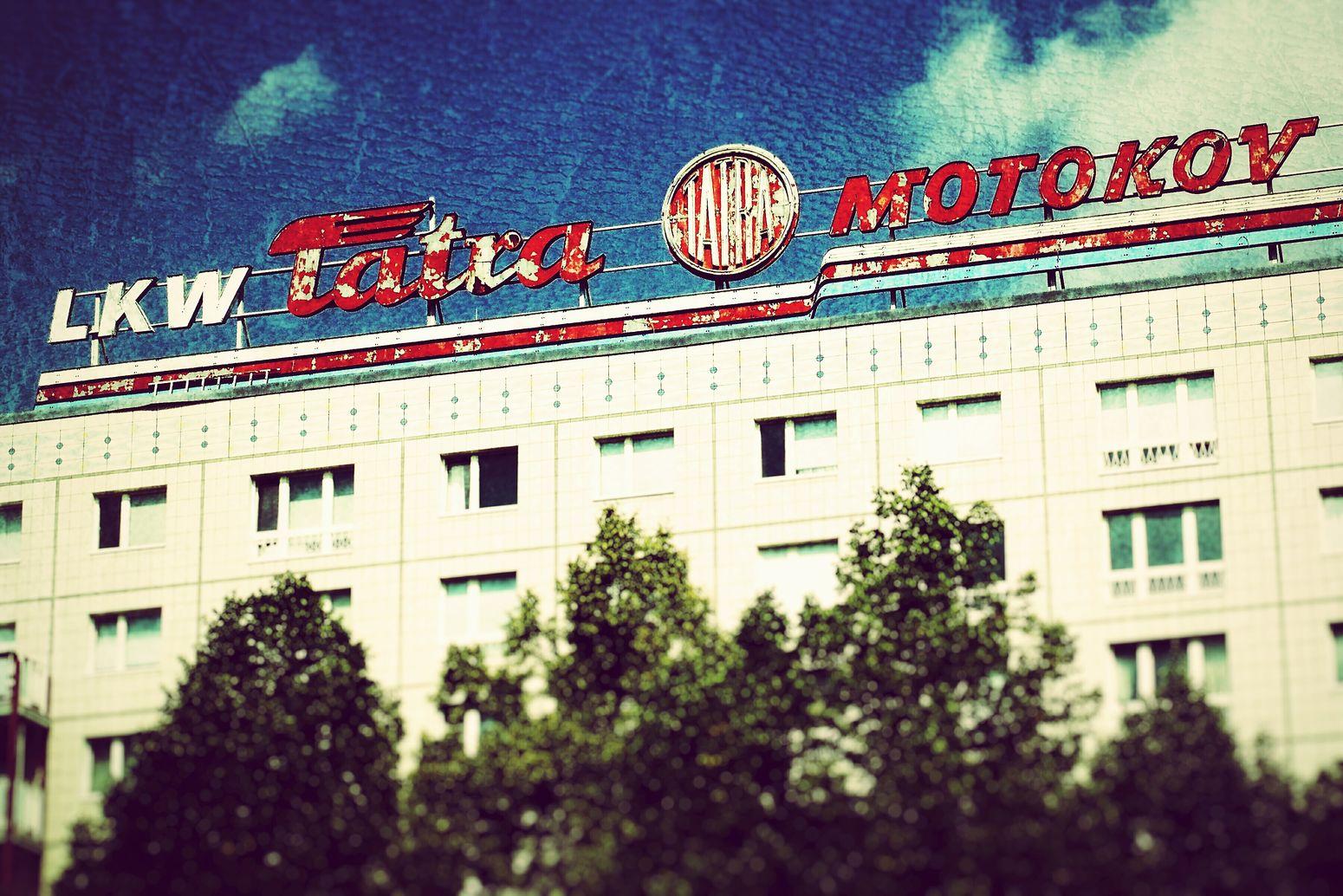 Vintage Signs Berlin Rooftop Tatra Plattenbauromantik Soviet Ghost GDR Gdrbuilding DDR Time Ghost Signs