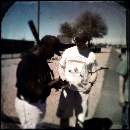 Alvin Davis Signing Autographs