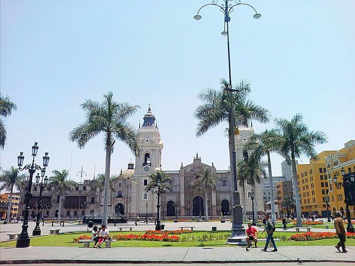 City Clear Sky Cityscape Day Cathedrale Travel Destinations Plazamayor PlazaDeArmasDeLima