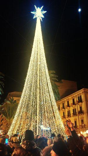 Natale  Albero Di Natale Luci Stella Luna❤ Taranto Centro