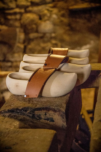 Atelier Clog Close-up Crafting Day Hand Made Indoors  No People Shoe Wood Working Space