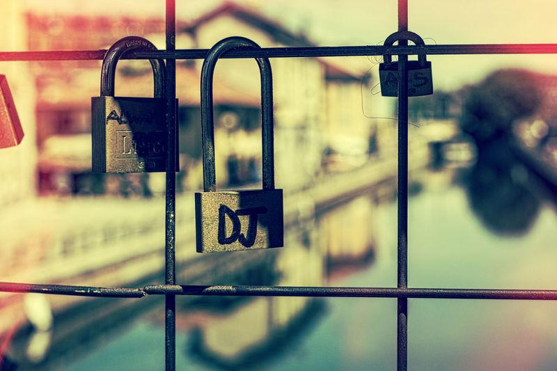 Chainlink Fence City Dj Love Forever? Metallic Navigli Padlock Padlock's Bridge