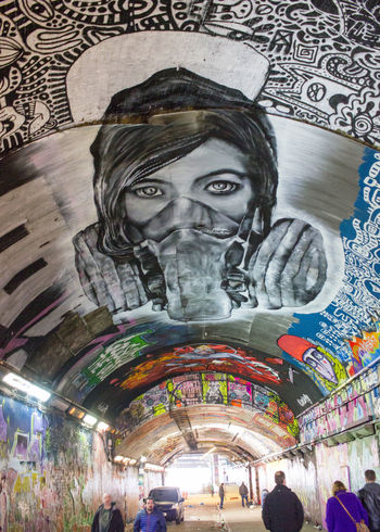 Art City Graffiti Indoors  London People Street Streetphotography Travel Destinations Tunnel Waterloo Waterloo Station