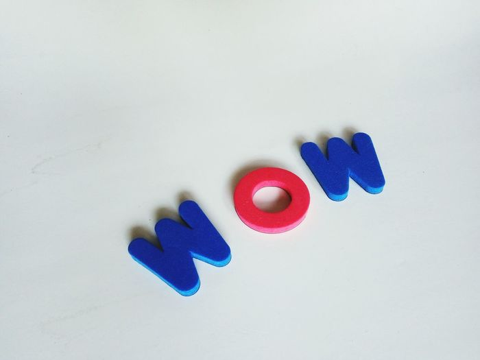 wow letter words Blue Multi Colored Love Variation No People Close-up Day First Eyeem Photo