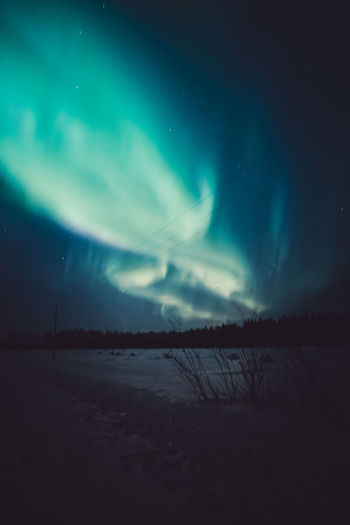 Night atmosphere Sky Scenics - Nature Beauty In Nature Night Tranquility Tranquil Scene Astronomy No People Star - Space Winter Nature Snow Aurora Polaris Northern Lights Landscape Photography Check This Out Hanging Out Travel Scenics Outdoors EyeEm Best Shots Dark Low Angle View Illuminated