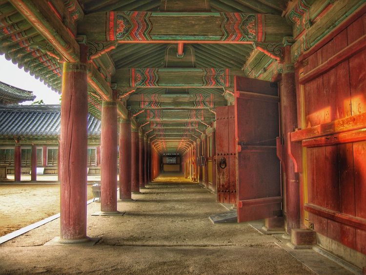 Bulguksa Buddhist Temple Pillars Perspective Photography Travel Photography Traditional Culture Tranquility Wooden Architecture