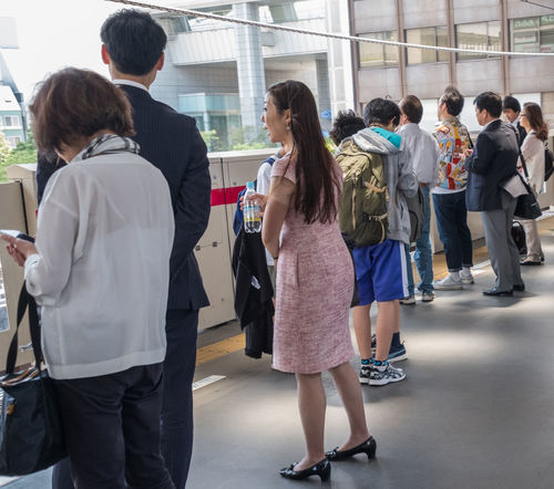 Commuters at Tokyo Metro subway. Tokyo Metro subway is a popular mode of transportation in Tokyo for people to commute. Busy City Life Commute Commuter Crowd Japan Mass Metro Modern People Station Subway System Tokyo Tokyo Metro Transport Transportation Traveling Urban