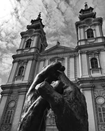 Black & White Statue Sculpture Cloud - Sky Sky Church Catholic Church Blackandwhite Photography