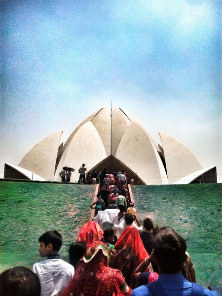 It's a Lotus Temple located at New Delhi, India. It's actually a church built in 90th century. It is the place where you can find peace in your heart. Real People Outdoors Women Adult Sky People Day Incridibleindia Overview Artofvisuals Exolore Your City India The Great Outdoors - 2017 EyeEm Awards EyeEmNewHere Architecture The Photojournalist - 2017 EyeEm Awards The Architect - 2017 EyeEm Awards Built_Structure Visualsoflife Symmetry_seekers Place Of Worship Spirituality Live For The Story Let's Go. Together.