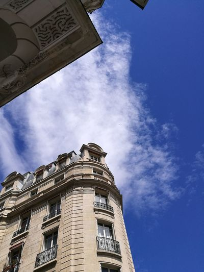 Architecture Building Exterior Sky No People Built Structure Outdoors Cloud - Sky Day Low Angle View Paris Paris, France  Huaweiphotography