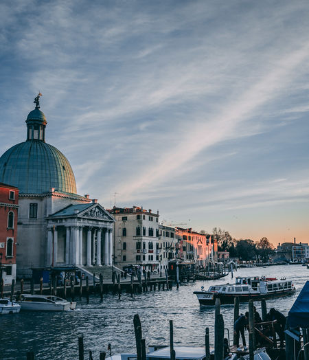 Venezia Venice, Italy Architecture Belief Building Exterior Built Structure Canal Cloud - Sky Dome Mode Of Transportation Nature Nautical Vessel No People Outdoors Place Of Worship Religion Sky Spirituality Transportation Travel Travel Destinations Venice Water
