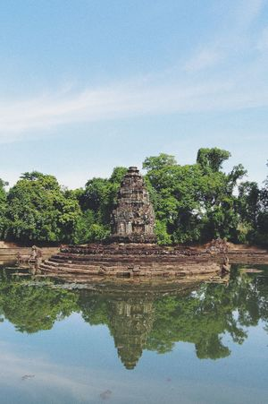 Ancient Ancient Civilization Architecture Beauty In Nature Building Exterior Built Structure Cambodia Cloud - Sky Day History Nature No People Old Ruin Outdoors Reflection Sky Travel Destinations Tree Water