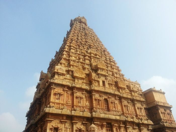 Architecture Built Structure Travel Destinations The Past History Building Exterior Travel City Tourism Sky Building No People Nature Religion Low Angle View Ancient Belief Day Outdoors Place Of Worship Big Temple at Tanjore
