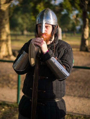 Official to say LARPing has taken up a very large portion of my life Melbourne Larp Medieval Saxon Reenactment Viking Axe Battle Reenactment Battle Ready Viking Helmet MedievalTimes Medieval Festival Medieval Days First Eyeem Photo Contemplating