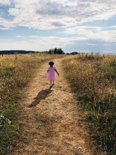 Sky One Person Real People Cloud - Sky Rear View Land Nature Field Outdoors Day Beauty In Nature Child My Best Photo
