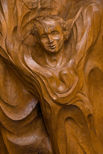 Architecture Art And Craft Backgrounds Beauty In Nature Brown Carving Carving - Craft Product Close-up Craft Creativity Day Full Frame History No People Religion Representation Sculpture Statue Travel Destinations Wood - Material