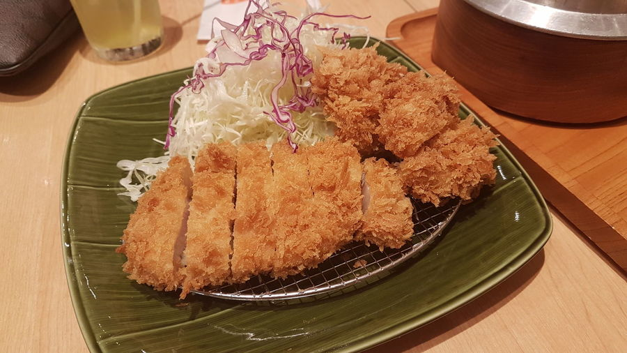 Tonkatsu wago Tonkatsu Restaurant Wago Food And Drink Table Indoors  Food Plate No People Freshness Dessert Sweet Food Close-up Ready-to-eat Day Bangkokeater Japanesefood