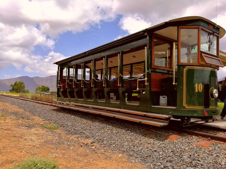Finding New Frontiers Train - Vehicle Rail Transportation Transportation Railroad Track No People Outdoors Winetram