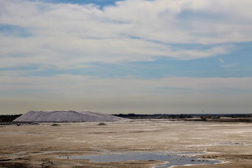 Salt Salt Mountain Provence France Camargue Blue Sky Landscape Cloud - Sky Salt - Mineral Salt Flat