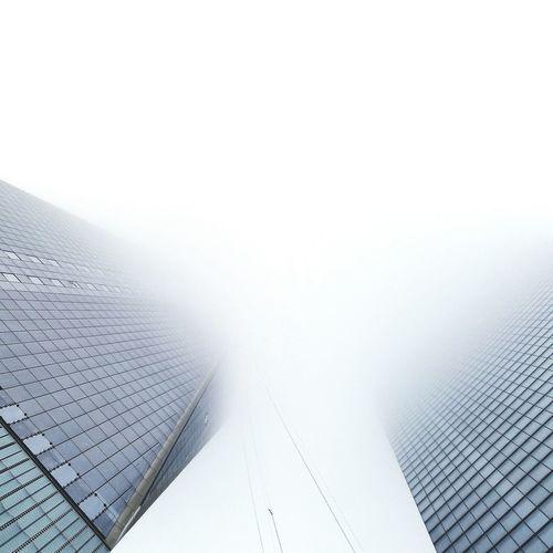 Vanishing Point Architecture Working Foggy Lookingup 1 World Trade Center Newyorkcity