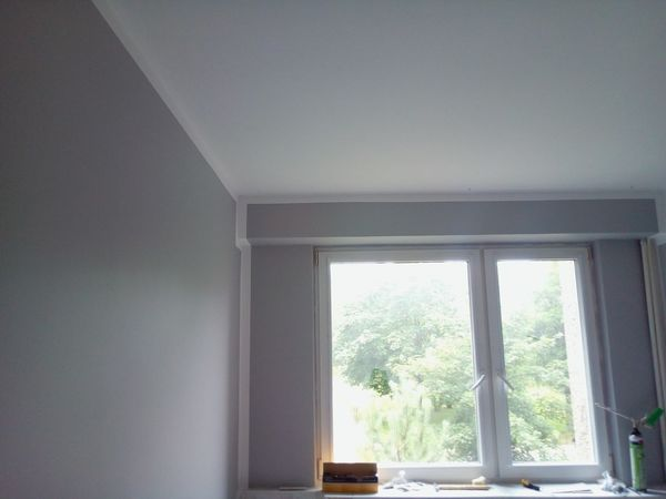 Window Indoors  Home Interior Day Architecture No People Work Time Built Structure Painting In Progress Cold Temperature Grey Colour Grey And White