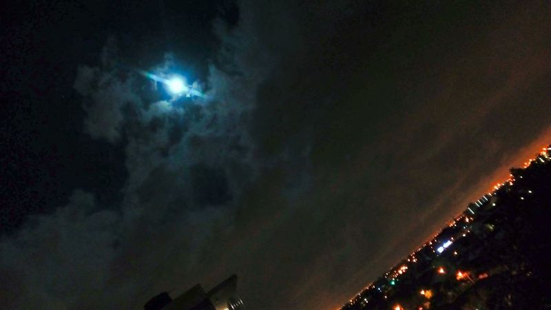 Night Illuminated Low Angle View Outdoors No People Nature Sky Beauty In Nature
