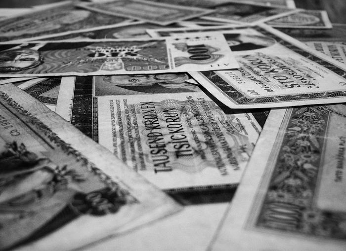 2worldwar Czech Republic Czech Money World War 2 Czechoslovakia Finance Indoors  No People Old Money Paper Currency Selective Focus World War