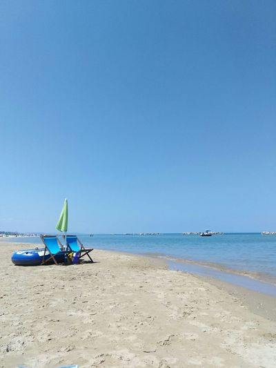 Summer Summertime Travel Travel Destinations Umbrella Umbrellarevolution Umbrella☂☂ Abruzzo Italy Water Sea Beach Sand Blue Summer Sky Horizon Over Water Landscape Seascape Coastline Coast Sandy Beach Calm Coastal Feature